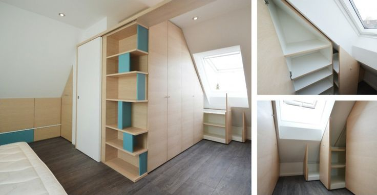 camera da letto in mansarda - Okapì - Mobili su misura