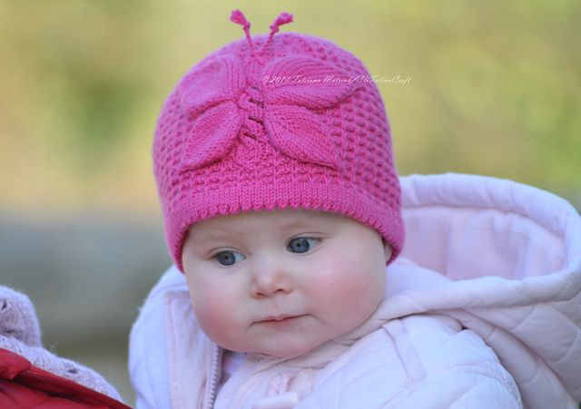 Ravelry: Lady Butterfly Baby Hat Knitting Pattern pattern by Tatsiana Matsiuk
