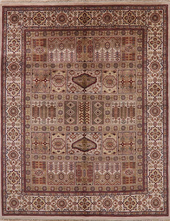 Geometric Bakhtiari Persian Design Oriental Area Rug Handmade Living Room Wool Carpet 8x10 7 11 X 9 11 In 2020 Oriental Area Rugs Wool Carpet Handmade Rugs