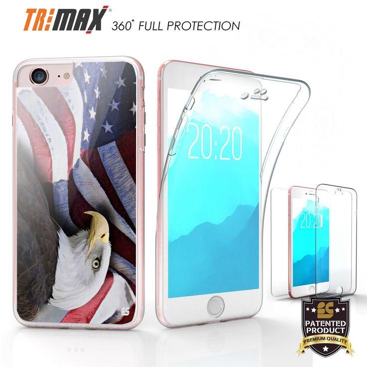 Tri Max For Apple iPhone 7 USA Flag/Eagle