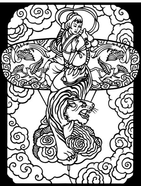 423 best Stained Glass Coloring images on Pinterest   Coloring books ...