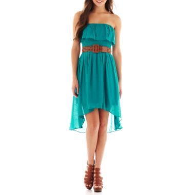 by&by Strapless Belted High-Low Dress    found at @JCPenney