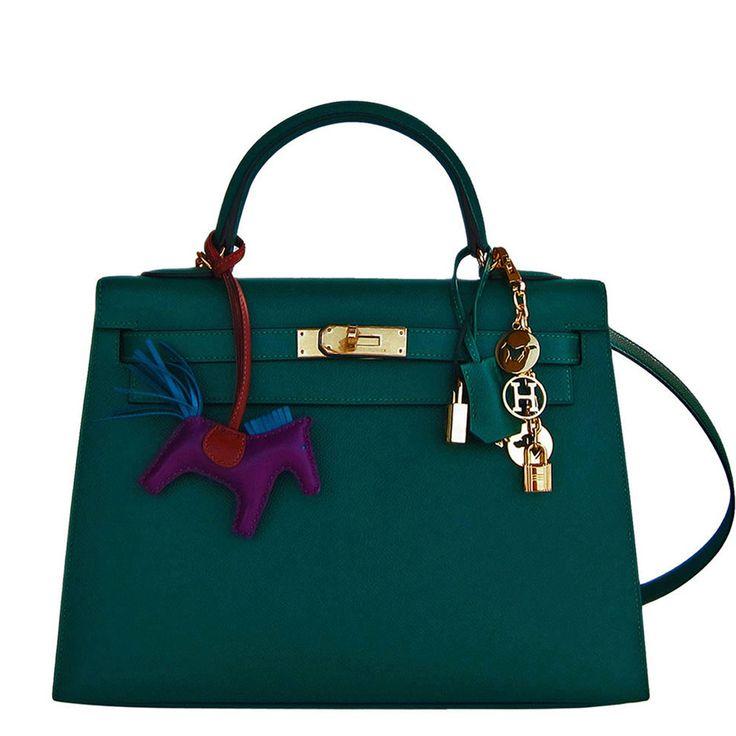 Hermes Kelly Bag 32cm Malachite Gold Sellier Emerald Epsom Gold Hardware Image 1