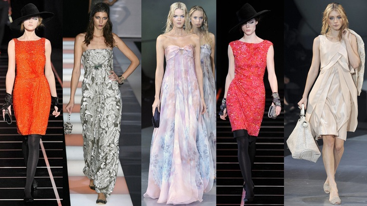 Giorgio Armani dresses (a favourite repin of VIP Fashion Australia )