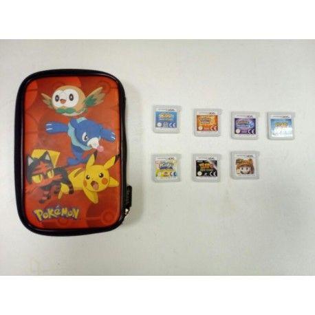 Funda para Nintendo Ds  de Pokemon  Juego Yo-kai watch Juego Yo-kai watch 2 Juego pokemon moon Juego pokemon sin Juego Kirby planeta robobot Juego Kirby Triple Deluxe y Juego Súper Mario 3d land.  Originales sin caja.