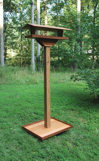 25 best ideas about platform bird feeder on pinterest for Bird feeder pole plans