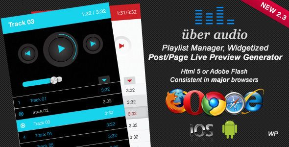 Uber Audio Wordpress plugin - CodeCanyon Item for Sale