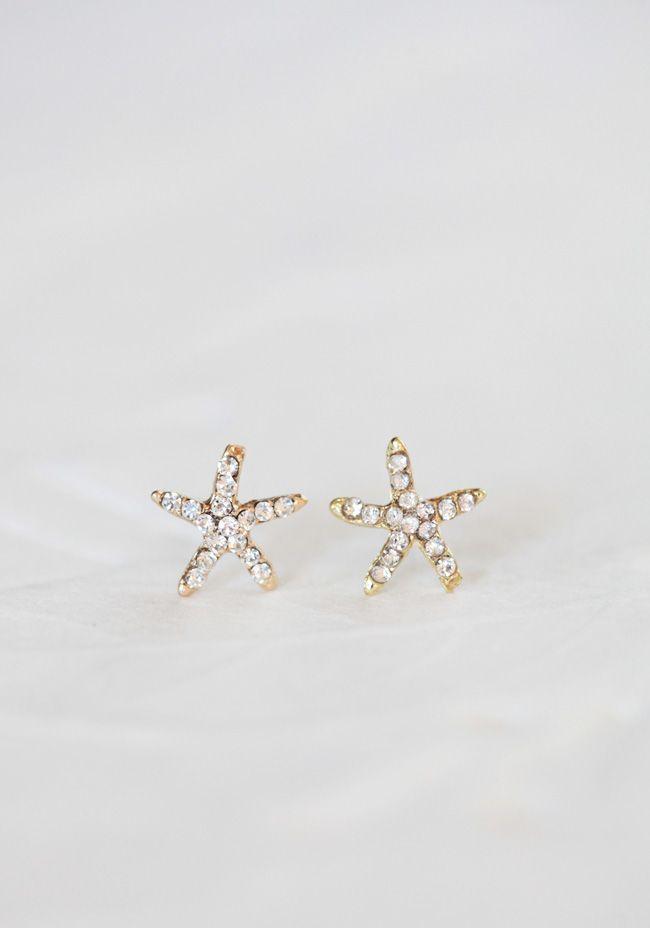 seaside starfish earrings from ruche