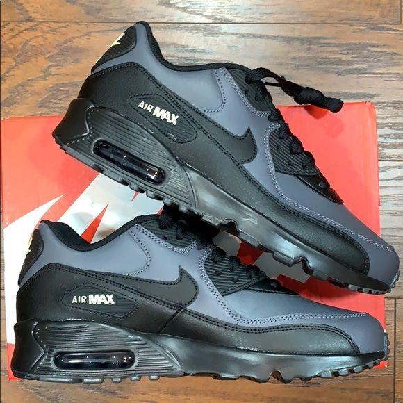 NIKE AIR MAX 90 LTD (GS) Dark Grey/Black-Dark Grey | Nike air max ...