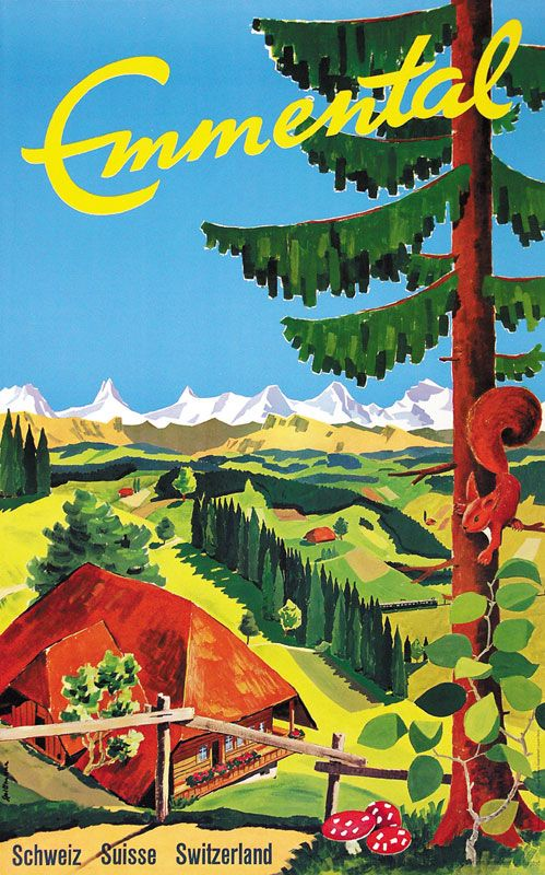 SWITZERLAND - Emmental Spillmann  #Vintage #Travel