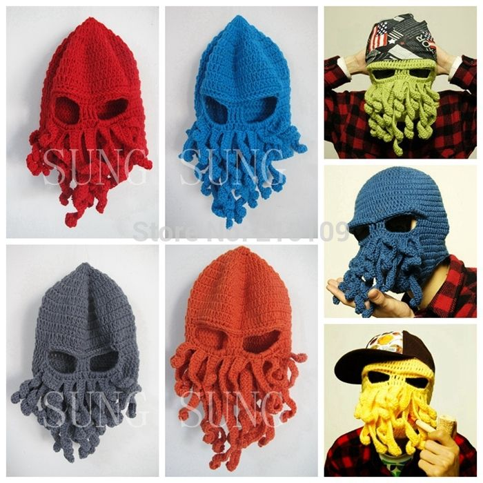 Free-Shipping-new-2014-Novelty-Handmade-Knitting-Wool-Funny-Beard-Octopus-font-b-Hats-b-font.jpg (700×700)