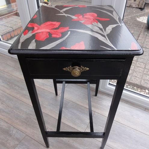 Hand Painted side table!