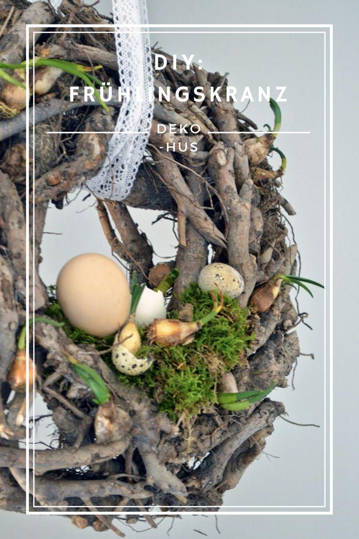 Ideen für einen Frühlingskranz #deko #ostern #fruhjahr Anleitung für Kranz