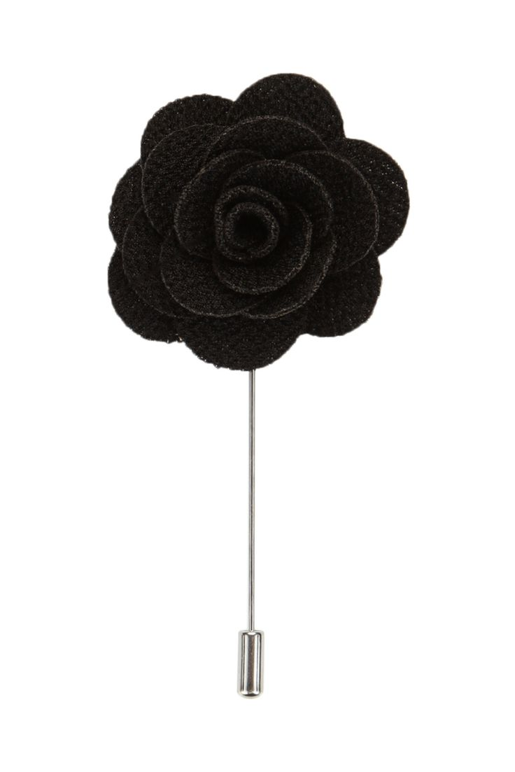 Arivd Black Flower Lapel Pin