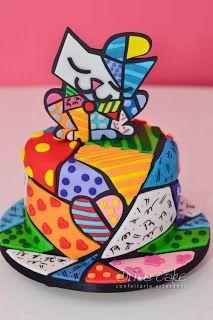 Drica Cake Confeitaria Artesanal: Romero Britto - finalmente!!!