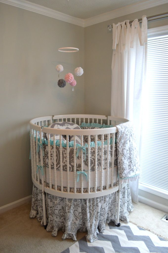 A Sweet Vintage Nursery Round Cribs Baby Boy Rooms Baby Decor