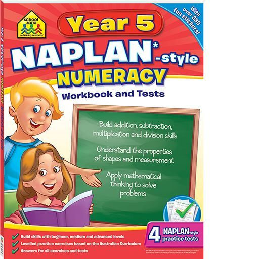 Have to get this book for next year! NAPLAN*-style Workbook and Tests Year 5 Numeracy