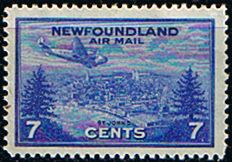 Newfoundland 1943 Air Mail Fine Mint SG 291 Scott C19 Other North American and British Commonwealth Stamps HERE!