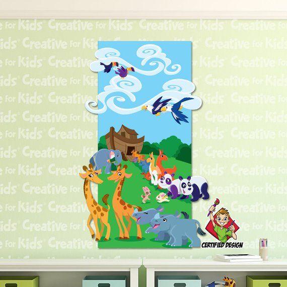 Noah S Ark Decal Entering The Wall Bible Story Kids Christi Decals Noahs Nursery