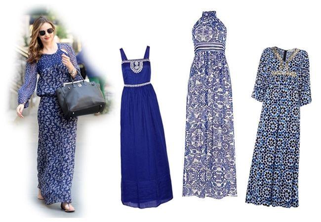 맥시 드레스 blue