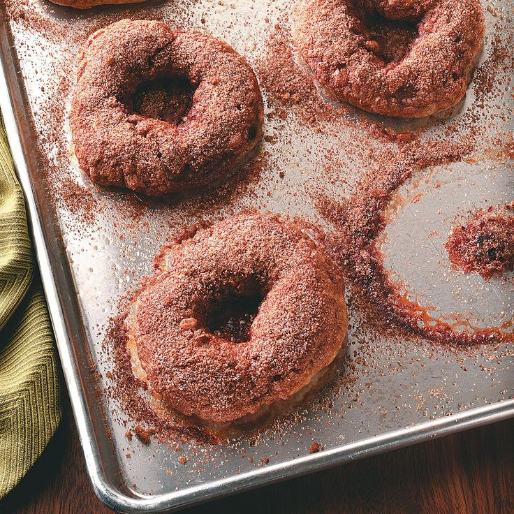 Cinnamon Bagels with Crunchy Topping Recipe -Once you get the hang of it, you won't believe how simple it is to make these bakery-quality bagels right in your kitchen. —Kristen Streepey, Geneva, Illinois