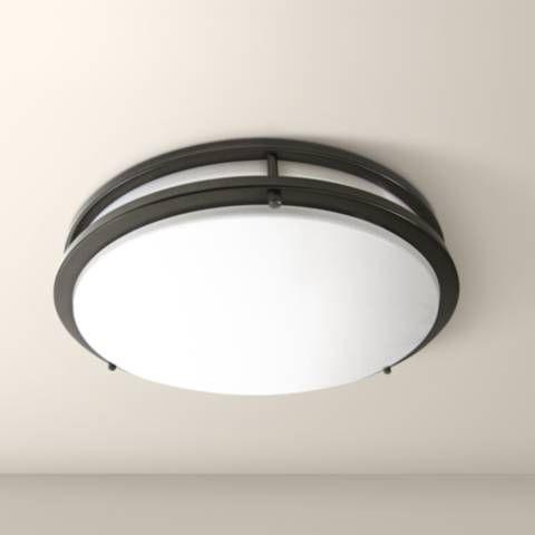 """Zaire Bronze 10"""" Wide Flushmount LED Ceiling Light - #1C024   Lamps Plus"""