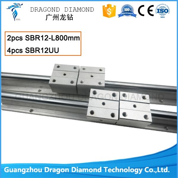 48.88$  Buy here  - cnc router machine parts 2pcs SBR12 -800mm linear rails shaft support +4pcs SBR12UU blocks For CNC DIY