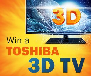 Win a Toshiba 3D TV