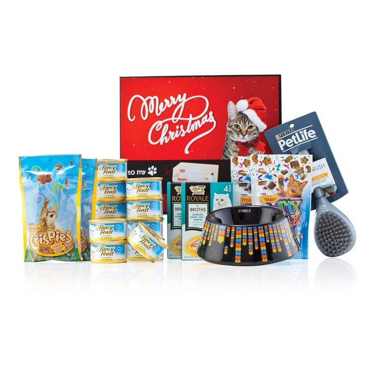 Purina Cat Christmas Gift Box - For those who like to give their pets pressies!  $49.99