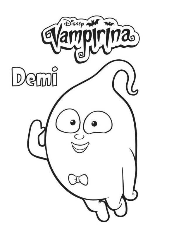 4 coloring pages of vampirina on kids n