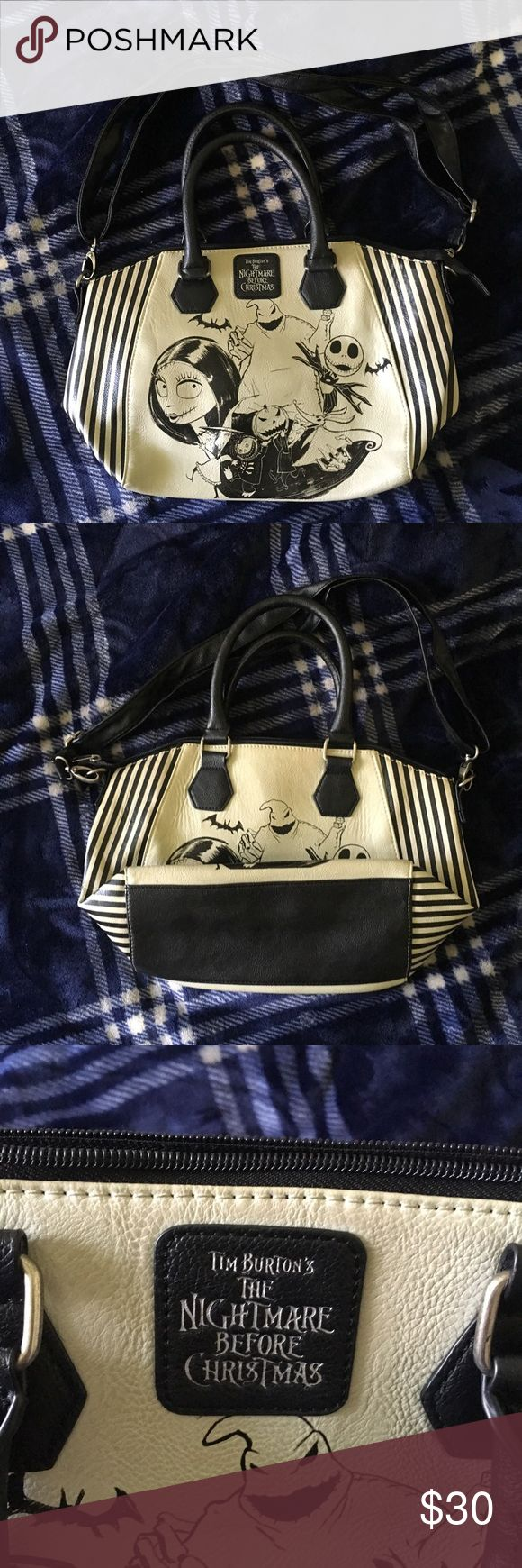 Loungefly The Nightmare Before Christmas Purse Sported this Awesome Satchel Couple Times, Still good Purse, it's a keeper and eye catching absolutely hate to part but I need to. Official Loungefly from Hot Topic. Hot Topic Bags Satchels