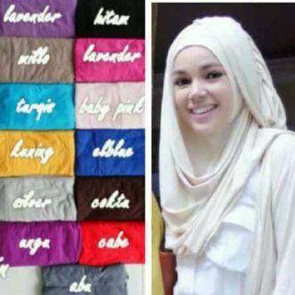 JILBAB HANA (CHSI) - Dewi Sandra Praktis dan simple. Harga: @ Rp. 51.000,- Bahan: spandex rayon super, adem dipakai.  --->Gabung juga yuk di Instagram.com/hijabmanis #Katalog_hijabmanis #HijabManis #Jilbab #Hana #CHSI #Spandex #Praktis #Simple