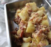 Recette - Pommes de terre aux lardons au thermomix - Notée 4/5 par les internautes