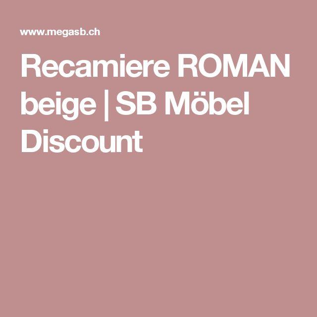 Recamiere ROMAN beige | SB Möbel Discount
