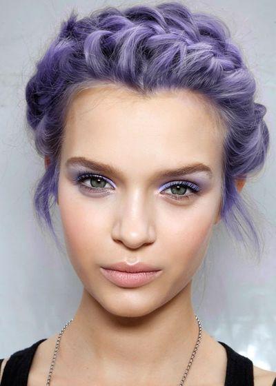 Hair and Eyes Both Purplish (Ha Purplish