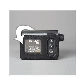 insulin pump cases,insulin pump clips,Leather Case with Belt Clip, Black, For OneTouch Ping, Each. Our Price: $63.77.