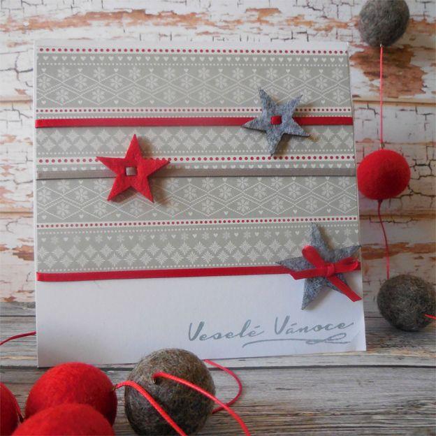 First Edition - Christmas Wishes v šedé a červené