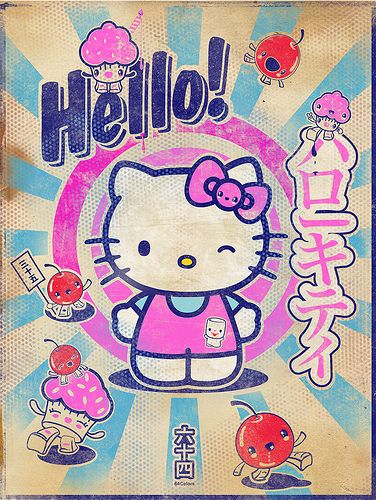 Hello Kitty Print by 64Colors \[•.•]/, via Flickr