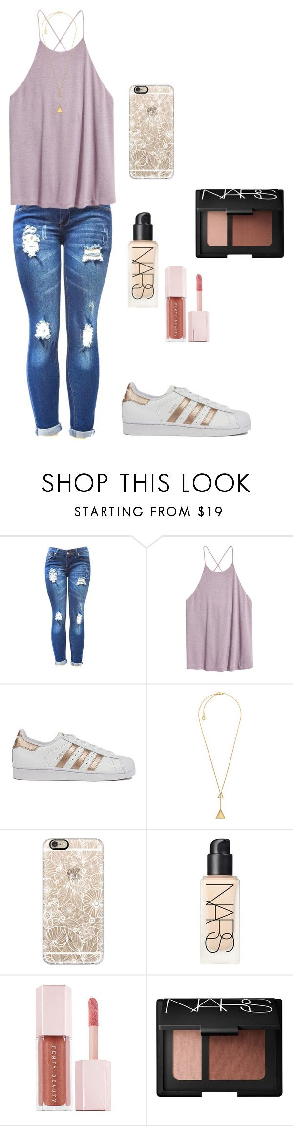 """""""movie night out"""" by dianaheart on Polyvore featuring H&M, adidas, Michael Kors, Casetify, NARS Cosmetics and Puma"""