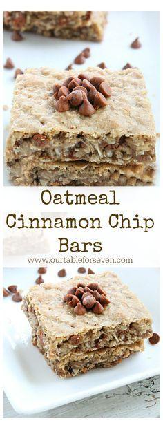 Oatmeal Cinnamon Chip Bars