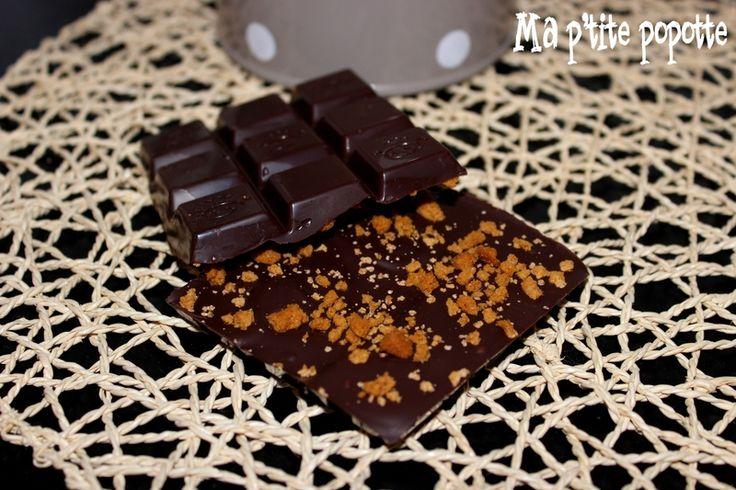 à offrir tablette de chocolat aux pépites de spéculoos - panier garni gourmand, cadeau gourmand - fait maison