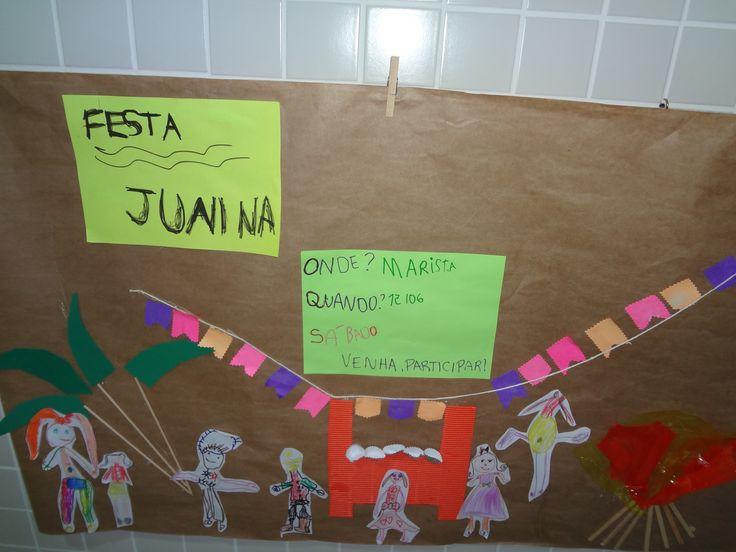 painel convite Festa Junina