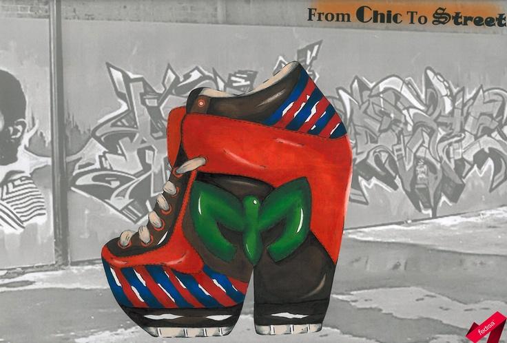 Street inspired sneaker design- marker media