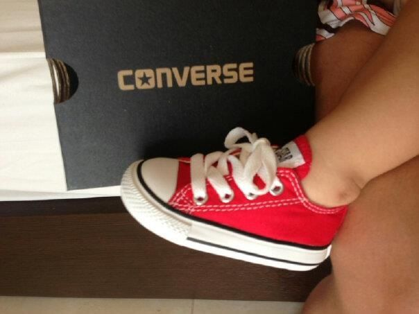 Red Baby Converse - DEFINITELY getting these for him