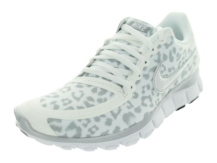 Nike Women's Free 5.0 V4 - White / Metallic Silver-Wolf Grey, 6 B US