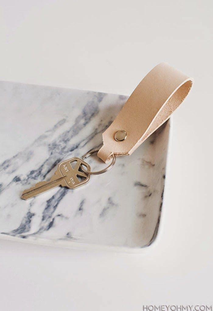 DIY leather key chain / ella