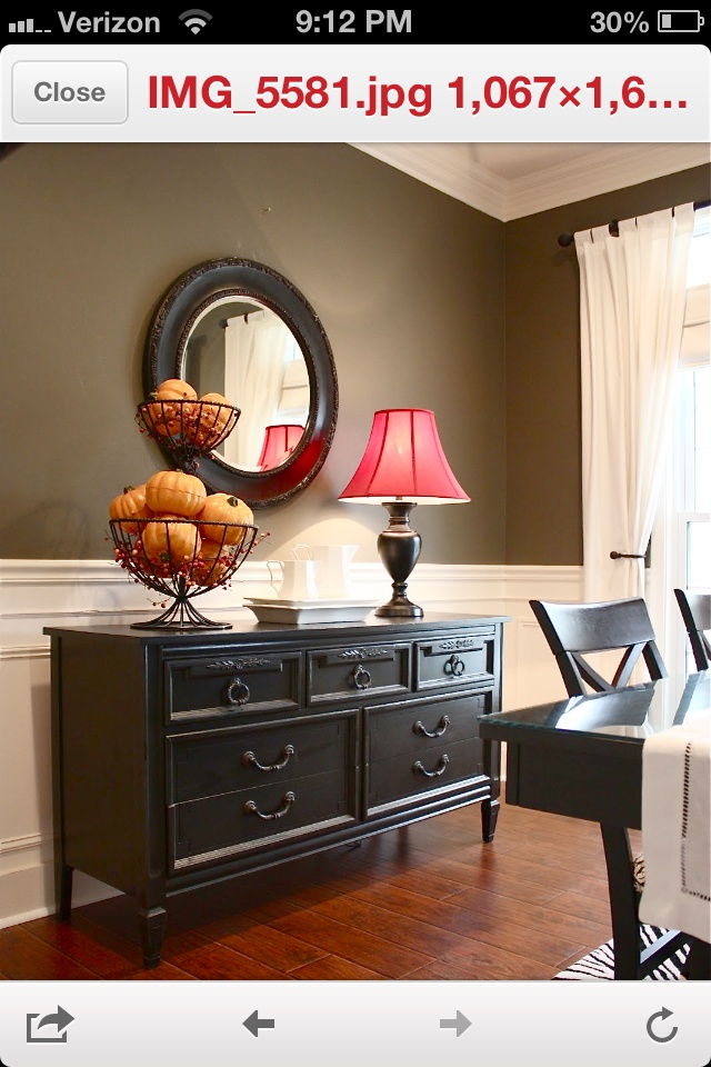 Dining room color: top color, bottom white