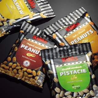 Redesign of all the nut bags for KiMs. Art Director Anna Just graphic Designer Me