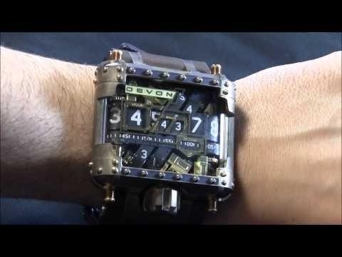 Devon Tread 1 Steampunk Watch Review - YouTube