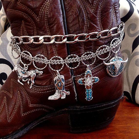 Bijoux, Bracelet de démarrage, Boot Bling, charmes de démarrage, Boot Chain, botte Western bijoux, Bracelet, bijoux Cowgirl, Cowgirl Boot Bracelet de démarrage